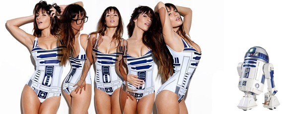 Womens R2D2 Swimsuit