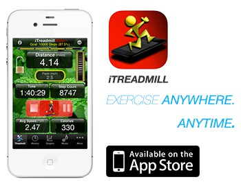 itreadmill pedometer application for iPhone